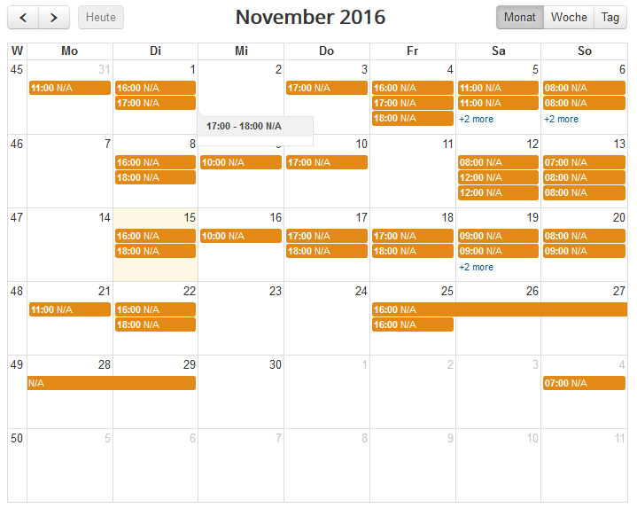 Google Calendar free / busy sample