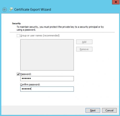 Hyper V 2012 with SSL export certficate Step04