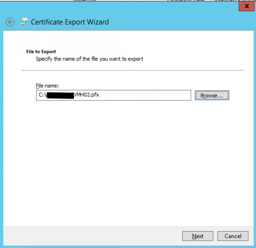 Hyper V 2012 with SSL export certficate Step05