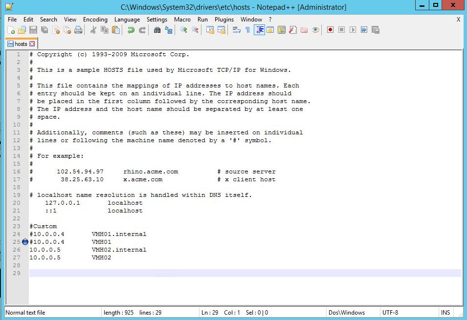 Hyper V 2012 with SSL hosts