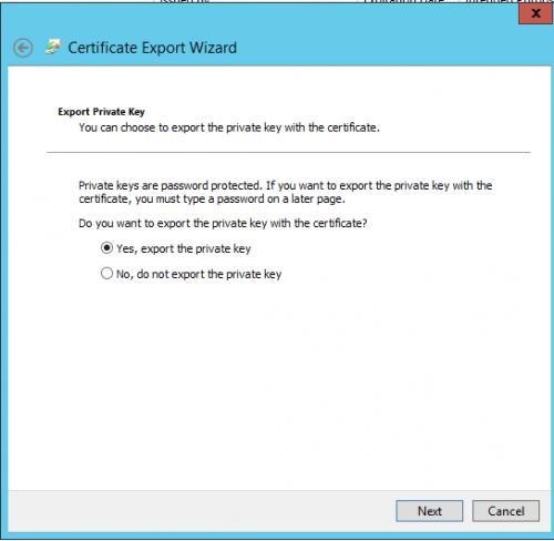 Hyper V 2012 with SSL export certficate Step02