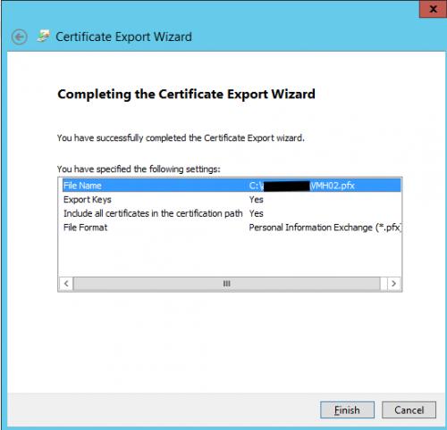 Hyper V 2012 with SSL export certficate Step06