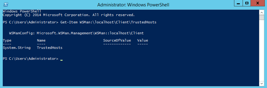PowerShell TrustedHosts Overview